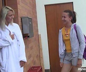 Lesbo teens Sabrina and..
