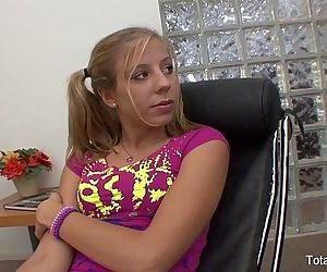 Teen fucks her lesbian..