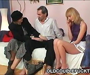 Blonde shares cock with..